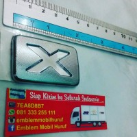 Emblem type x untuk ayla luxio daihatsu
