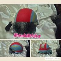 helm retro untuk anak umur 3 -5 tahun