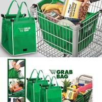Jual Grab Bag shopper shopping tas piknik keranjang belanja lipat organizer Murah