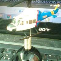miniatur helikopter Bell 412 POLISI UDARA 10cm