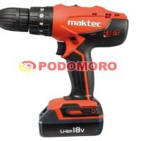 MAKTEC MT081E / MT 081 E / Mesin Bor Cordless / Cordless Drill 18V