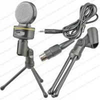 Paket Mikrofon Tripod Stand XLR Cable Mic PC Laptop Game Microphone