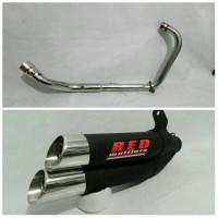 harga Knalpot Red Muffler duos fullset Yamaha Scorpio Tokopedia.com