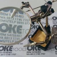 harga Penjepit PCB + Kaca Pembesar + Solder Stand (Three Hand Tools - 3in1) Tokopedia.com