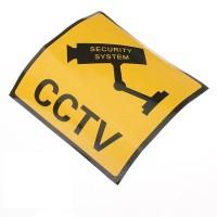 """Stiker CCTV """"Security System"""" gambar tempel ukuran 11 x 11 cm"""