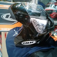 harga Helm INK Aventure Black Solid Full Face Modular Hitam Tokopedia.com