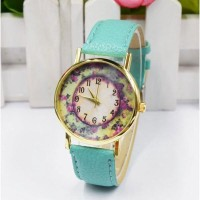 Rose Garden Female Watch Leather Strap - Jam Tang