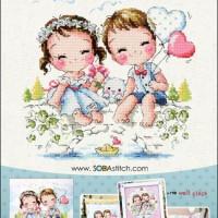 Pola Kristik Original / Asli Soda Stitch SO-3168 Our wedding photos