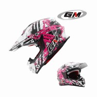 harga Helm GM Supercross Full Face Cross Black White Purple Neutron Tokopedia.com