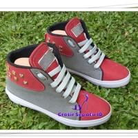 Sepatu Wanita - Flatshoes - Sepatu Kets Stut [KS-01] - Merah Bata
