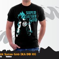 Kaos Anime Dragon Ball Goku Super Saiyan God (KA DB 10)