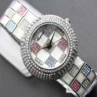 Jam Tangan Cewek Chopard Catur Bulat Silver Berkualitas