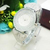 Jam Tangan Wanita Chopard Pita Diamond Silver Limited