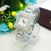 Jam Tangan Cewek Chopard Mini Diamond Silver Murah