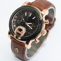 Aigner Bari SKY-02 Leather Brown Murah
