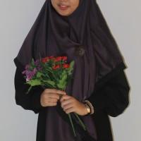 Jual Jilbab Kamila Ungu Tua JB48 (Jilbab Syaree Segi Empat)