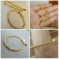 gelang tangan rantai lapis emas 24k