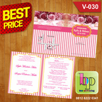 Undangan Pernikahan Vintage Murah V-030 Best Price!