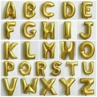 Jual Balon Foil Huruf/Nama/angka/nomer/tulisan warna gold Murah