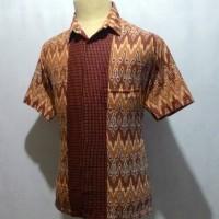 Jual Kemeja Baju Batik Pekalongan Pria Cowok Motif Songket Rangrang C31 Murah