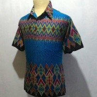Jual Kemeja Baju Batik Pekalongan Pria Cowok Laki Motif Songket C17 Murah