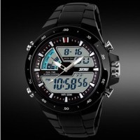 Jam Tangan Pria Anti Air SKMEI Dual Time Digital Waterproof