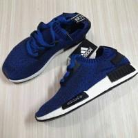 Sepatu Adidas NMD Running Biru Import Vietnam Cewek Woman Wanita 37-44