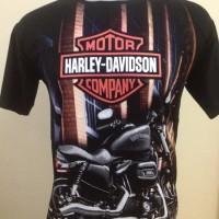 Kaos Motor Harley Davidson 3D Murah Keren O-8