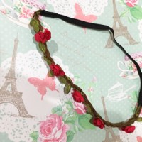 Flower Crown Headband / mahkota bando bunga korea