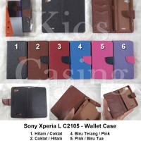 Sony Xperia L C2105 - Flip Cover Wallet Case Casing Sarung