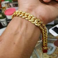 harga Gelang Rantai Sisik Naga Permata Jumbo Lapis Emas 24k Tokopedia.com