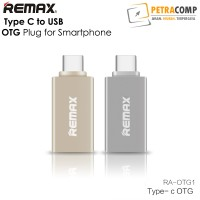 Jual Remax Type C to USB OTG Plug for Smartphone Murah