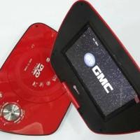 "GMC DIVX-808R-TV 7"" Portable DVD Player - Merah"