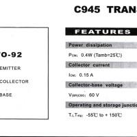 Transistor NPN TR C945 C 945 Hi Feq