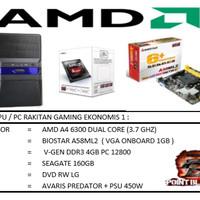 PAKET CPU / PC RAKITAN GAMING EKONOMIS 1 / A4-6300 (3.7 GHZ) / RAM 4GB