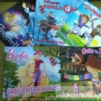 buku cerita kartun anak (cowok/cewek) gambar berwarna, komik/ dongeng
