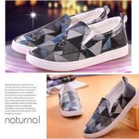 Jual Sepatu 70413 Grey Keds, PU, 3cm 500g Size 35,36,37,38 Rp.179000 Murah