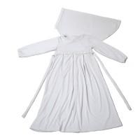 Baju Muslim Gamis Anak Perempuan Putih Lucu Simple Murah