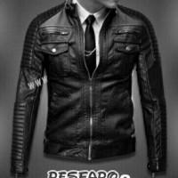 jaket pria semi kulit/jaket motor/jaket touring