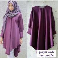 harga PURPLE TUNIK/atasan panjang/long top/dress/gaun/blouse/blus muslim Tokopedia.com