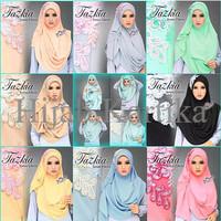 Jilbab Tazkia Pashmina Instant 2 Faces / Tazkia Pastan 2 Muka / RFUD