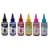 Refill Tinta printer EPSON 100ML 6 warna Dye Korea anti water & UV