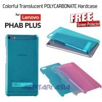 """Hardcase for Lenovo PHAB PLUS 6.8"""" : Colorful TRANSLUCENT ( + FREE SP)"""