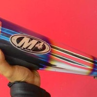 Jual Knalpot M4 Blue Slip On Ninja 250 Fi / Versys / ER6 Baru | Knalpot