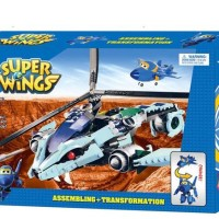 Lego PESAWAT HELICOPTER PERANG 335 pc JEROME War Brick Super Wings MM