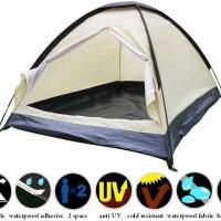 Tenda Camping 2 orang -2 layer dome (BLUE)