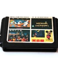harga Kaset Game SEGA 4 in 1: BK 1 - Mickey Mouse - Sonic - Michael Jackson Tokopedia.com