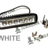 harga LED BAR OFFROAD DRL Work Light 6 mata - WHITE (18W) Mobil/Motor Tokopedia.com