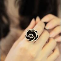 cincin berlian mawar hitam / black roses diamond ring JCI007