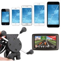 X-Grip RAM Motorcycle GPS / Cellphone Mount Holder Stand USB Charger